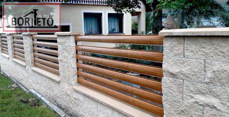 Íves kerítés léc arany tölgy egy oldalon matt felület 11,5 cm széles 4 db rögzítőcsavarral ingyenes szállítással!