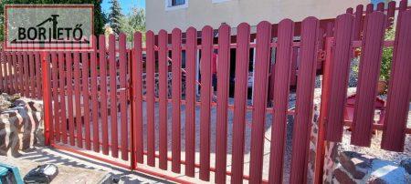 Íves kerítés léc  két oldalon színes  fényes felület 11,5 cm széles 4 db rögzítőcsavarral ingyenes szállítással!