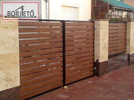 Lemez kerítéselem  mindkét oldalon famintás 11,5cm széles