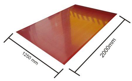 Síklemez védőfóliázott 0,60 1250x200mm aluminium mat