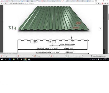 Trapézlemez T-14/0,40 mm