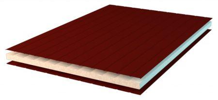 50mm vastag pur tetőpanel