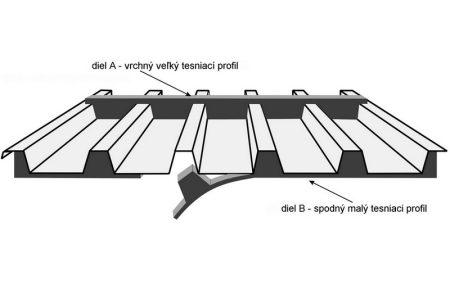 Tömítő elem a T-35 vagy T-55 trapézlemez gerinclemeze alá