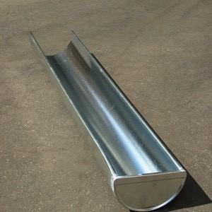 Ereszcsatorna végzárt  1m-es aluminium normál