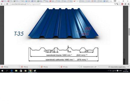 Trapézlemez T-35/ 0,70 mm