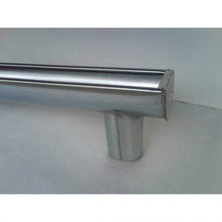 Ereszcsatorna vég+csonk  1m-es aluminium normál